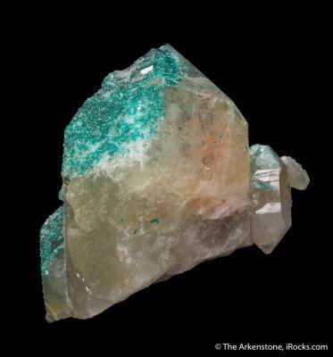 Dioptase in Quartz