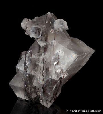 Calcite with inclusions of Manganese dendrites