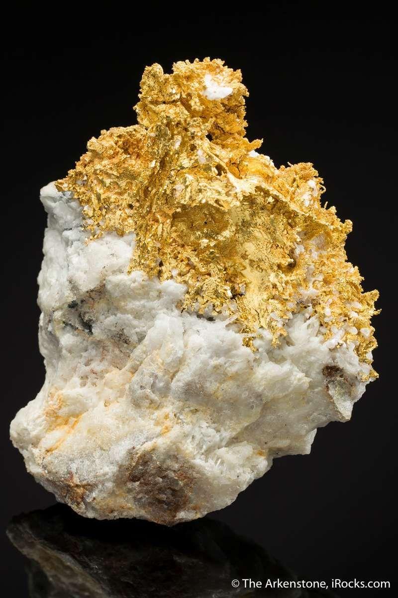 Gold On Quartz Jb17 1908 Round Mountain Mine Usa Mineral Specimen