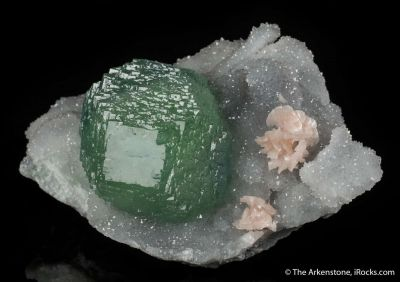 Fluorite with Dolomite and Quartz