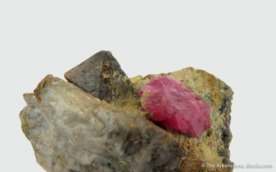 Ruby with Spinel (variety Gahnite) , circa 1800s