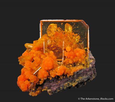 Wulfenite and Mimetite (1973 pocket)