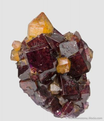 Fluorite and Quartz with Hematite- illustrated