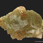 Fluorite and Chalcopyrite, with Hematite