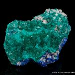 Dioptase with Linarite