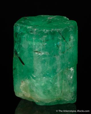 Emerald with Schorl Tourmaline inclusions