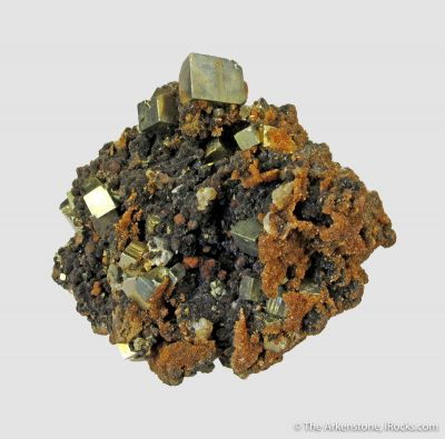 Childrenite (TL - mid 1800s) with Pyrite and Siderite