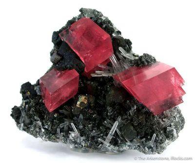 Rhodochrosite, Quartz, Chalcopyrite