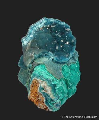Hemimorphite on Aurichalcite on Hemimorphite