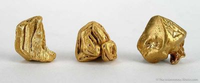 Gold - Set Of 3 Crystals