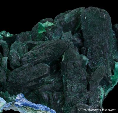 Malachite after Azurite, Plancheite