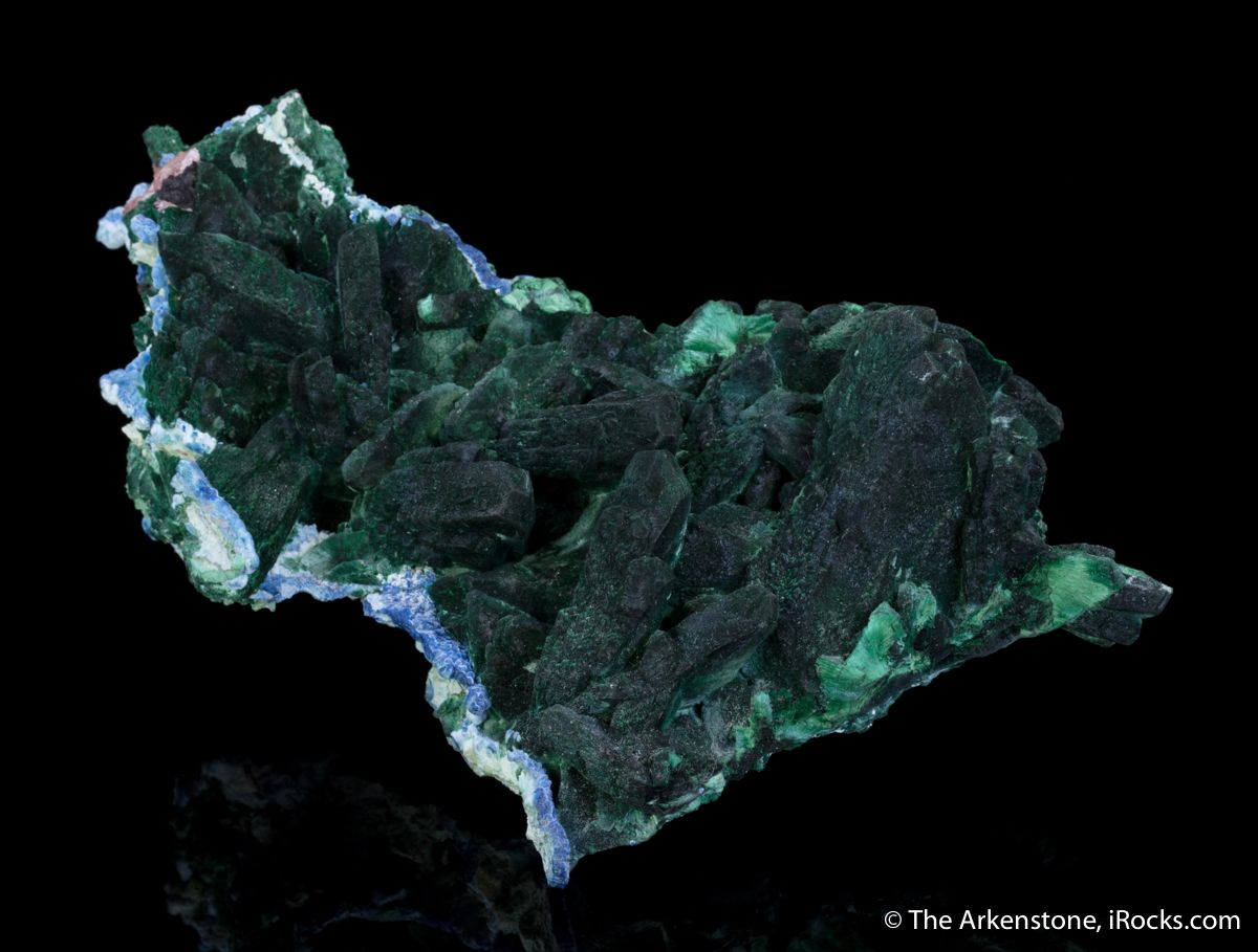 Malachite after Azurite, Plancheite - KEROa-15 - Milpillas