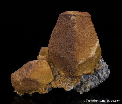Siderite, Sphalerite cast after Calcite