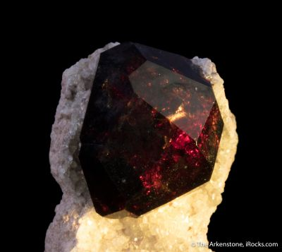 Spessartine on Quartz