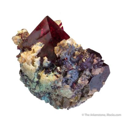 Cuprite with Barite and Chrysocolla