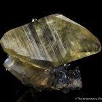Calcite on Stibnite