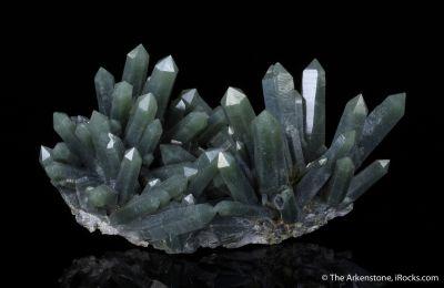 Quartz with Hedenbergite inclusions