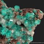 Dioptase in Calcite