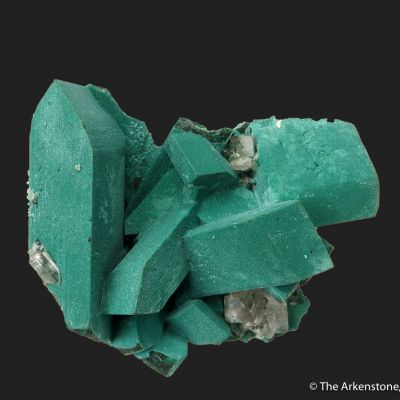 Rosasite after Malachite ps. Azurite, with Cerussite