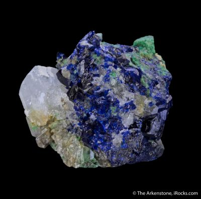 Anglesite, Azurite, and Arsentsumebite (TL)