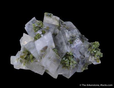 Calcite and Mottramite