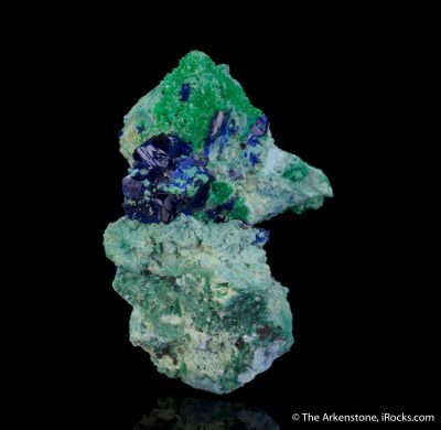 Azurite and Arsentsumebite (Type Locality)