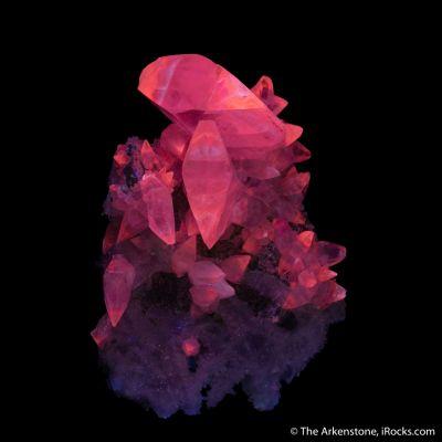 Calcite on Quartz var. Amethyst ps. Calcite