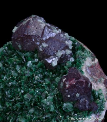 Cuprite on Primary Malachite