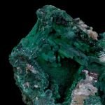 Malachite after Azurite, Cerussite