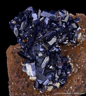Azurite with Iodargyrite