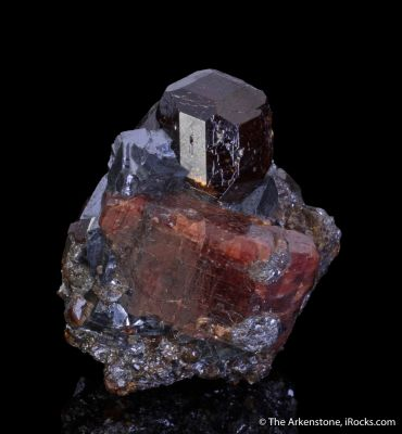 Rhodonite with Spessartine Garnet