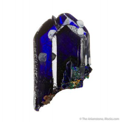 Azurite with Calcite