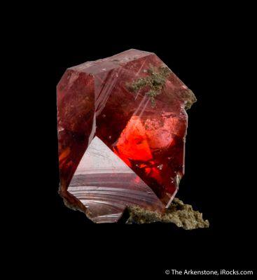 Rhodochrosite gem crystal