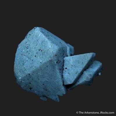 Scheelite (fluorescent) with Molybdenite, on Arsenopyrite
