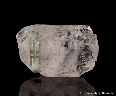 Beryl var. Morganite included by Tourmaline
