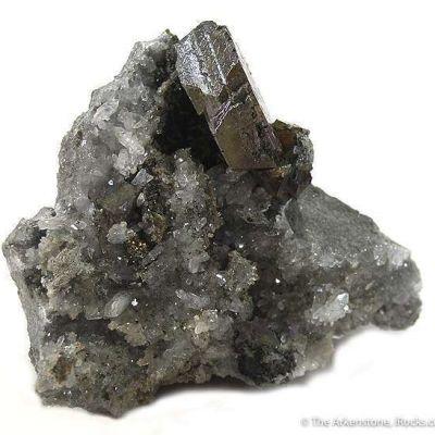 Sphalerite (Twinned) on Quartz