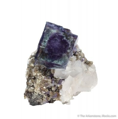 Fluorite on Calcite with Muscovite