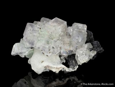 Fluorite on Quartz with Galena and Chalcopyrite