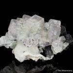 Fluorite on Quartz with Galena and Chalcopyrite