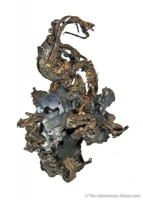 Silver With Acanthite Crystals