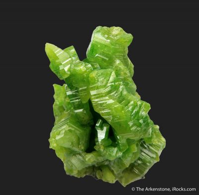 Pyromorphite (large, hoppered crystals)