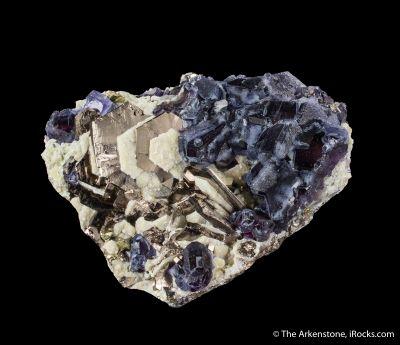 Pyrrhotite with Fluorite and Muscovite