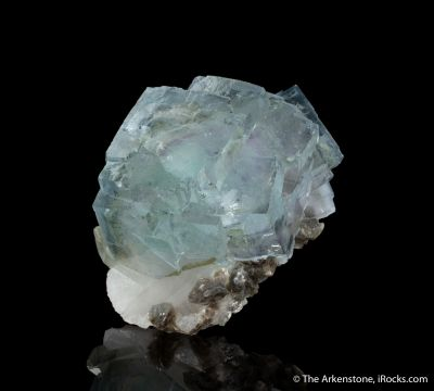 Fluorite on Quartz with Muscovite