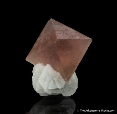 Pink Fluorite with Calcite