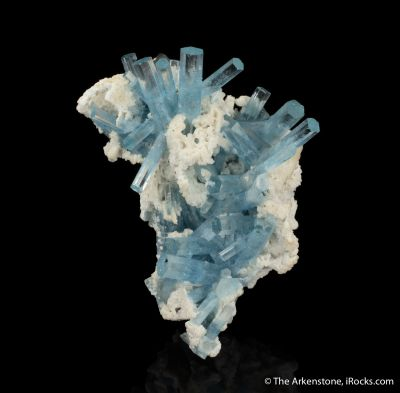 Aquamarine with Microcline and Schorl