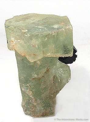 Beryl (Unusual Scepterd Form) With Schorl