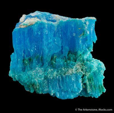 Krohnkite with Natrochalcite