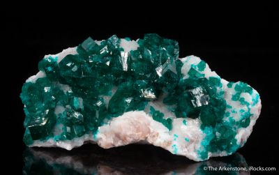 Dioptase and Calcite