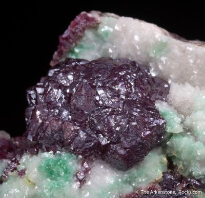 Cuprite with Dolomite and Malachite