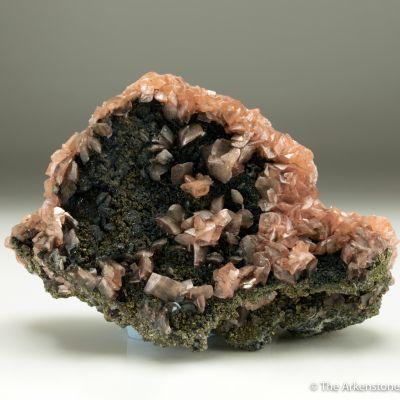 Smithsonite var. Manganoan Smithsonite with Pyrite